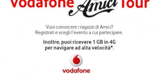 Vodafone Amici Tour, in regalo 1 GB in 4G
