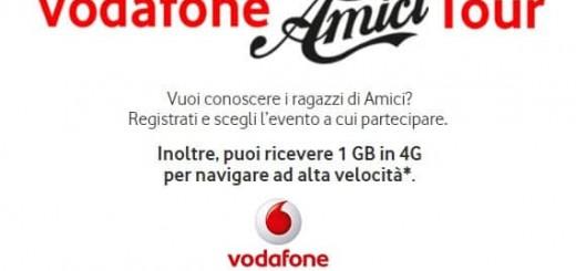 Vodafone Amici Tour, in regalo 1 GB in 4G