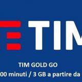 TIM Gold Go 1000 minuti e 3 GB a 5€