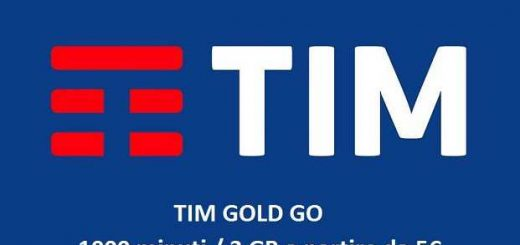 TIM Gold Go 1000 minuti e 3 GB a 5€